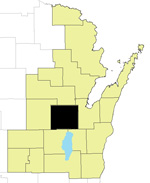 Outagamie County Locator Map