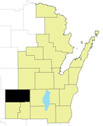 Waushara County Locator Map